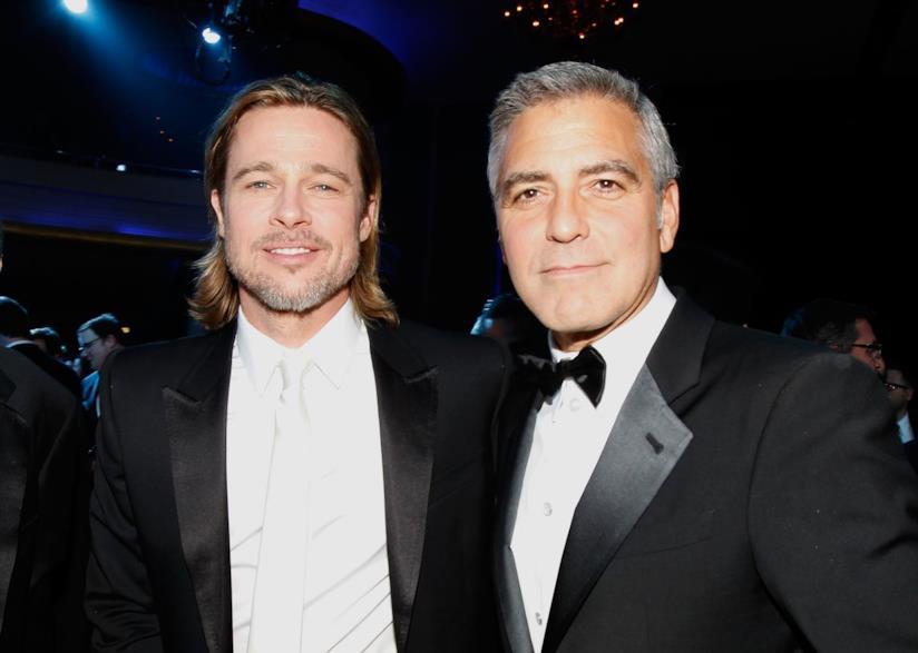 Brad Pitt e George Clooney in primo piano