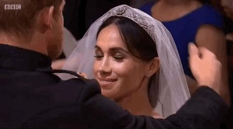 Meghan e Harry durante le nozze
