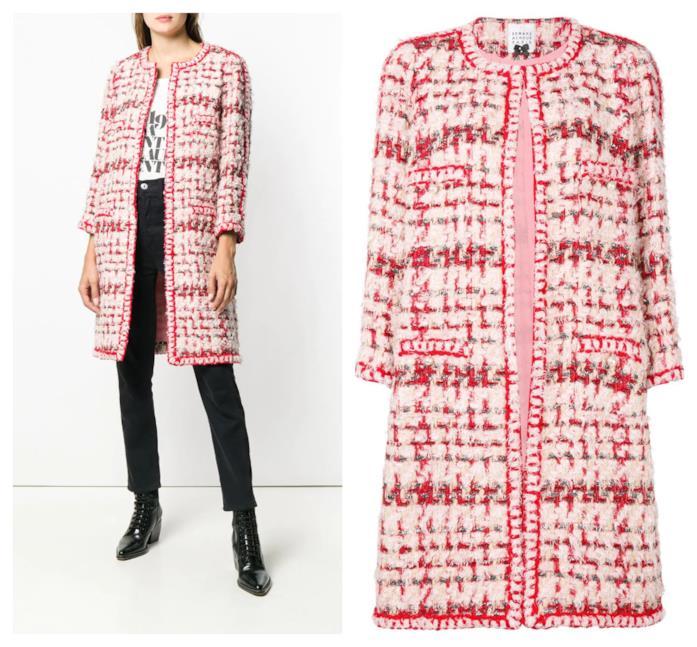 In tweed il cappotto rosa di moda per l'A/I 2018-19