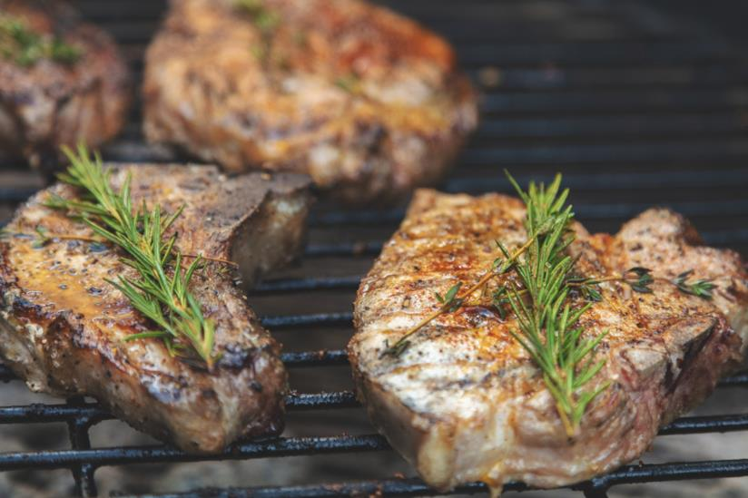 Carne di maiale sulla brace