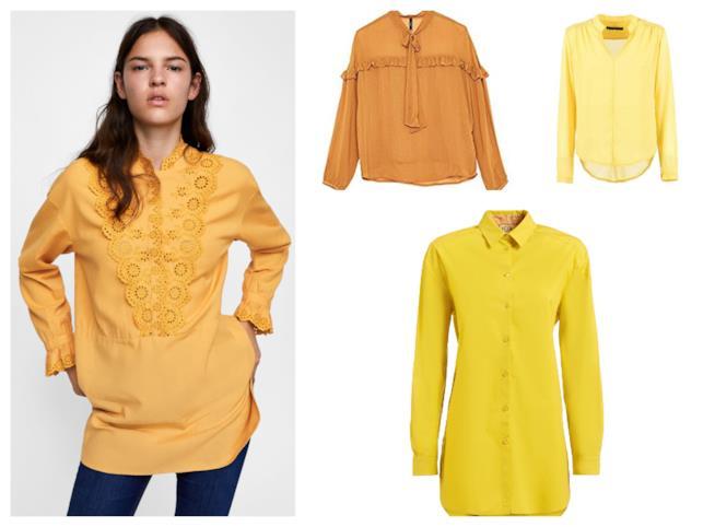 Gialle, le bluse e le camicie di tendenza per l'autunno 2018