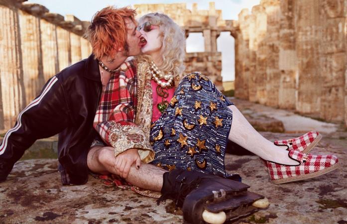 Uno scatto della campagna Pre Fall Gucci