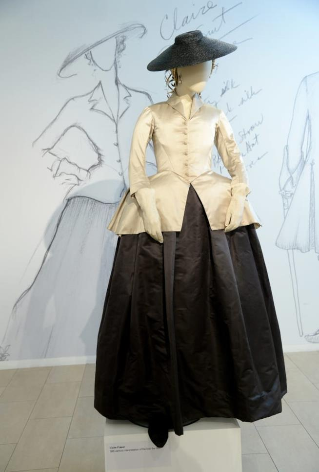 Il modello dell'abito in Outlander ispirato a Dior