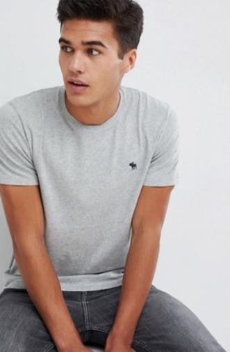 T-shirt girocollo grigia