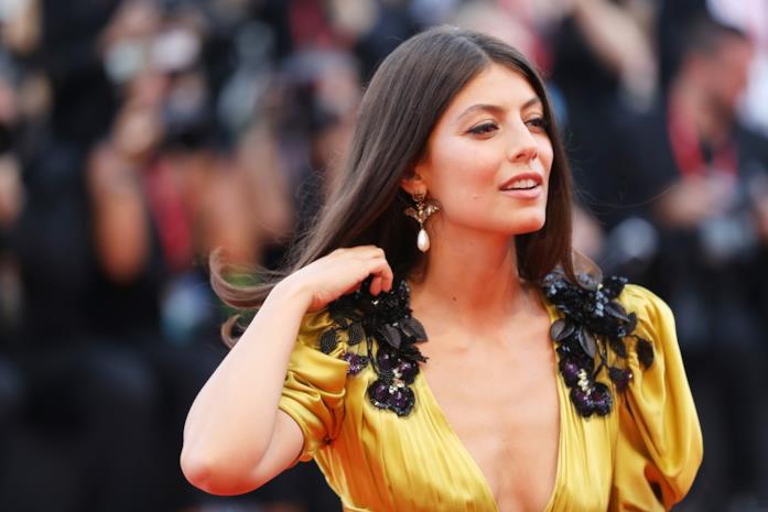 Alessandra Mastronardi on the red carpet of Venice