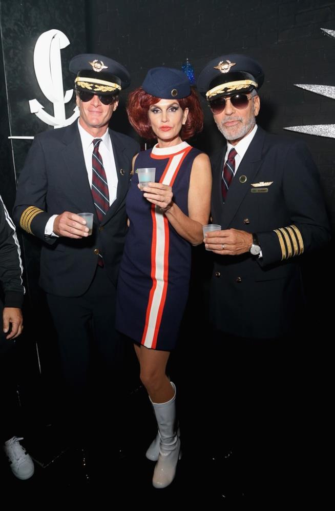 Rande Gerber, Cindy Crawford e George Clooney