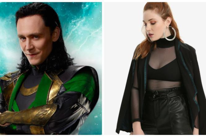 Collage tra Loki e il blazer ispirato