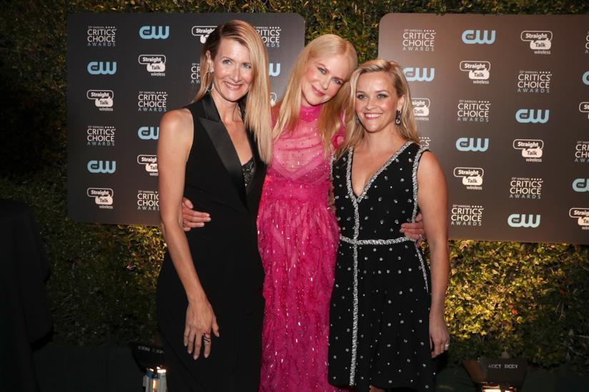 Reese Whiterspoon con Laura Dern e Nicole Kidman