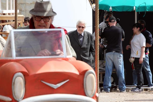 Una foto dal docu film Che strano chiamarsi Federico di  Ettore Scola