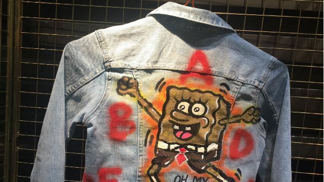Giacca jeans SpongeBob Gold presentata a Pitti Bimbo 2017