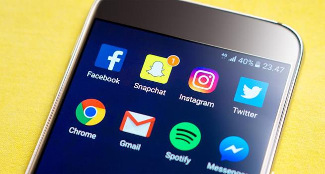 Le app di diversi social network.