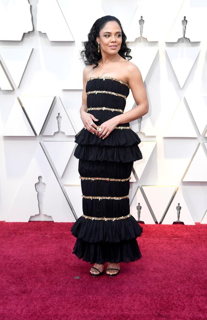 Tessa Thompson sul red carpet degli Oscar