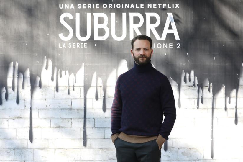 Alessandro Borghi alla conferenza stampa di Suburra