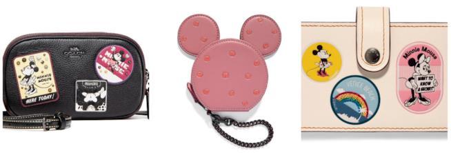 Tre elementi della collezione Disney x Coach