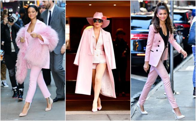 Le giacche in rosa scelte dalle star come vuole la tendenza P/E 2018