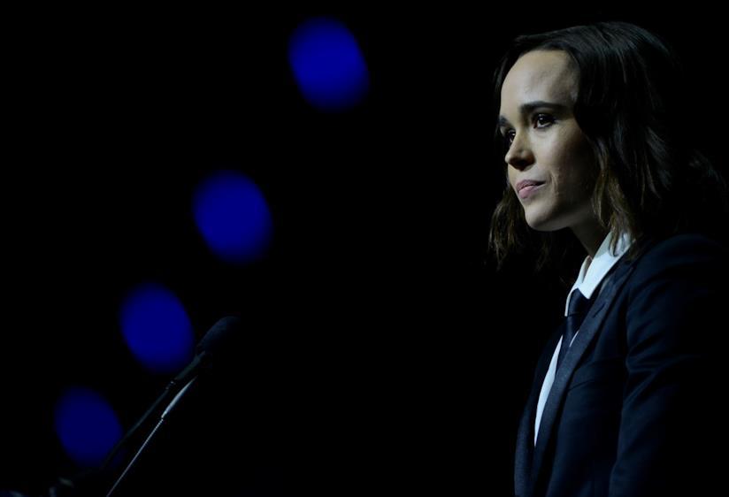 Un intenso primo piano di Ellen Page