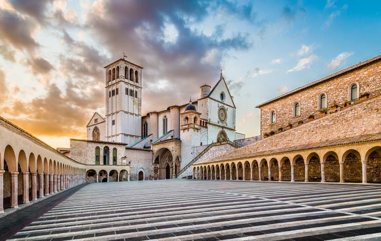 La chiesa di San Francesco ad Assisi.