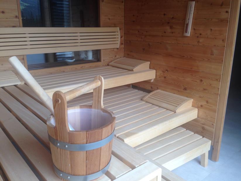 Uno scorcio della sauna privata dell'hotel Sillian