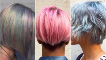 Un collage di pixie cut e corti colorati
