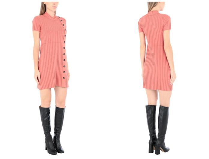 Vestito corto corallo di tendenza