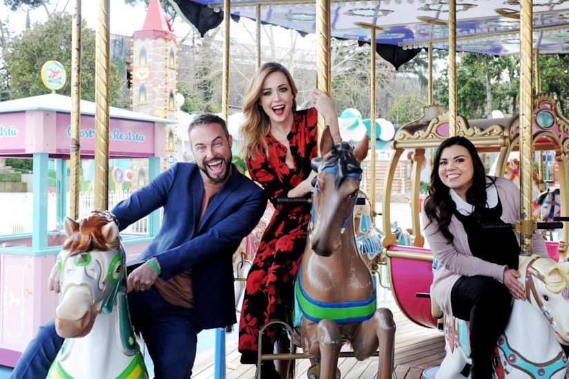 4 Mamme: Flavio Montrucchio, Georgia Luzi e Robera Cavallo al Luneur
