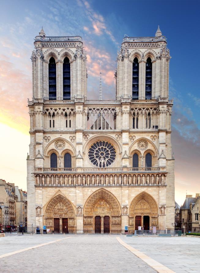La facciata di di Notre Dame