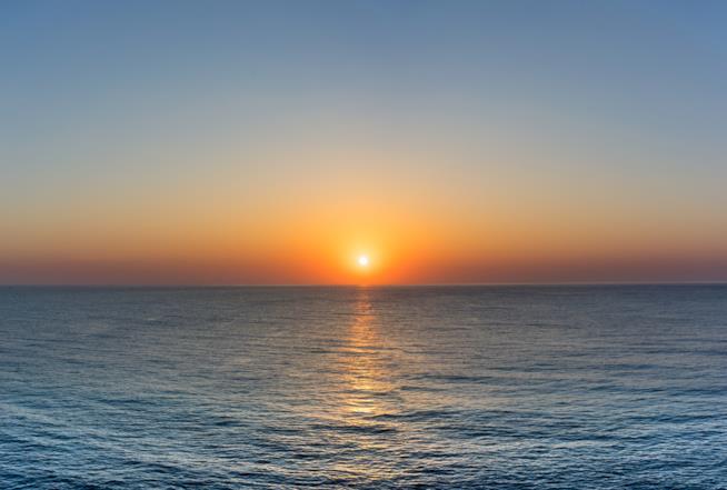 Tramonto sul mare della Sardegna