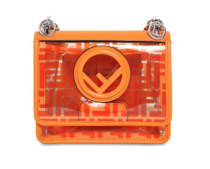 Borsa Fendi arancio in PVC