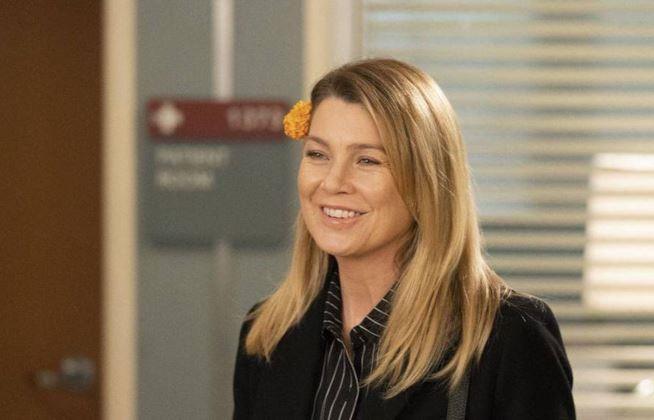 Meredith Grey sul set di Grey's Anatomy 15