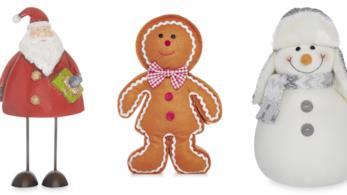 Decorazioni natalizie a forma di Babbo Natale, Gingerbread Man e pupazzo di neve di primark