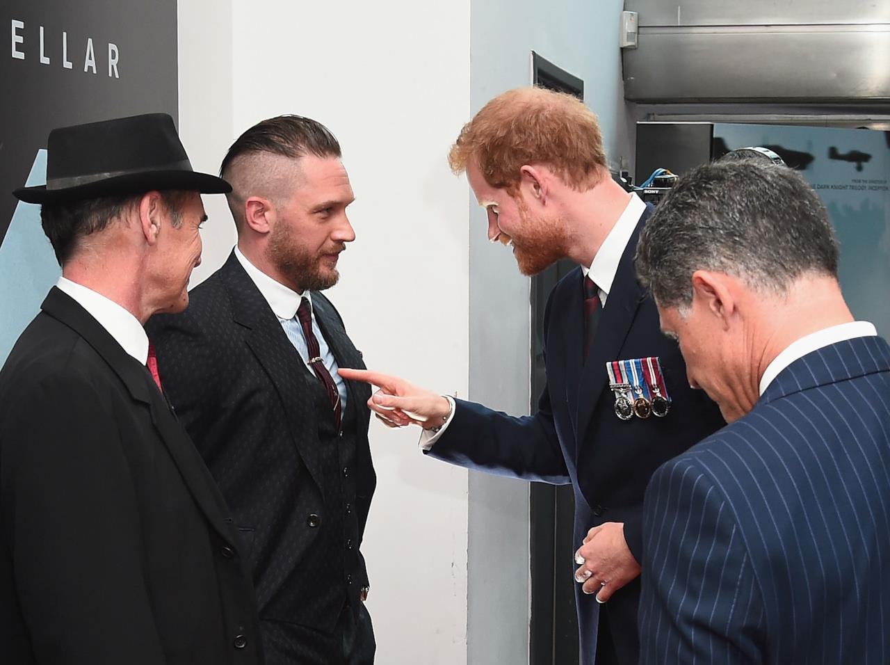 Tom Hardy e il Principe Harry alla premiere di Dunkirk