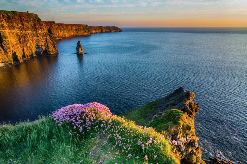 La roccia di fronte le scogliere: Breanan Mór