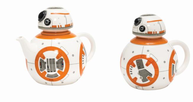 Teiera e tazza in ceramica a forma di BB-8