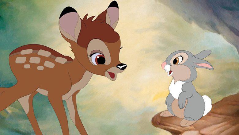 Un'immagine del cartone animato Bambi
