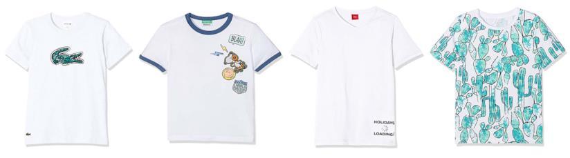 Abbigliamento per bambini, la maglietta bianca