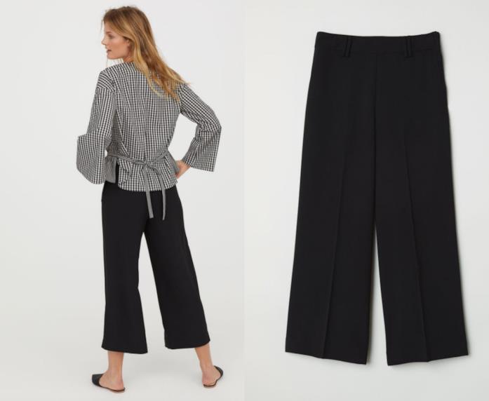 Pantaloni palazzo neri H&M