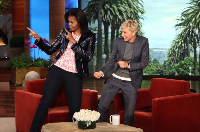 Michelle Obama ospite in tv da Ellen
