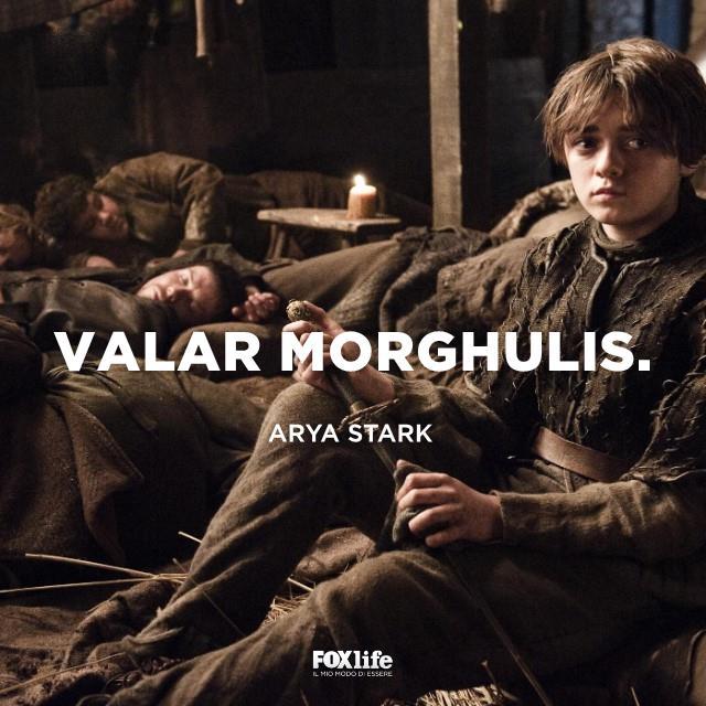 Arya vestita da ragazzo
