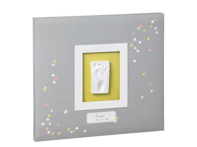 Album foto personalizzabile con calco della manina o del piedino del bebè