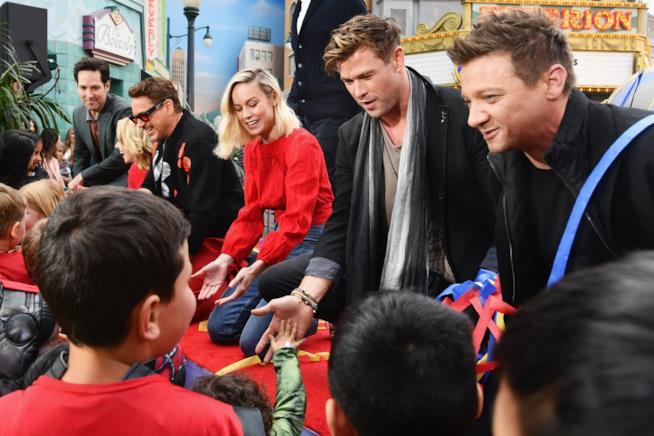 Attori Avengers al Disney Resort in Anaheim