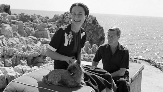 Wallis Simpson in una foto in bianco e nero