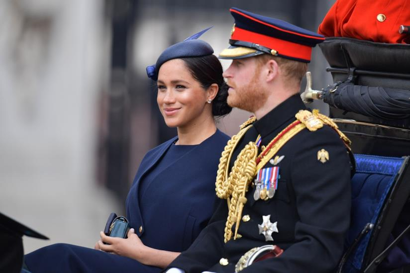 Trooping the Colour Meghan ed Harry