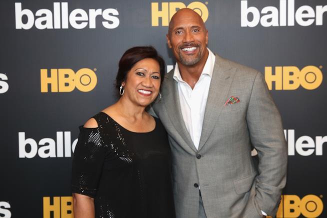 Dwayne Johnson e sua madre