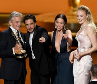Emmy 2019 Michael Douglas, Kit Harington, Emilia Clarke e Sophie Turner