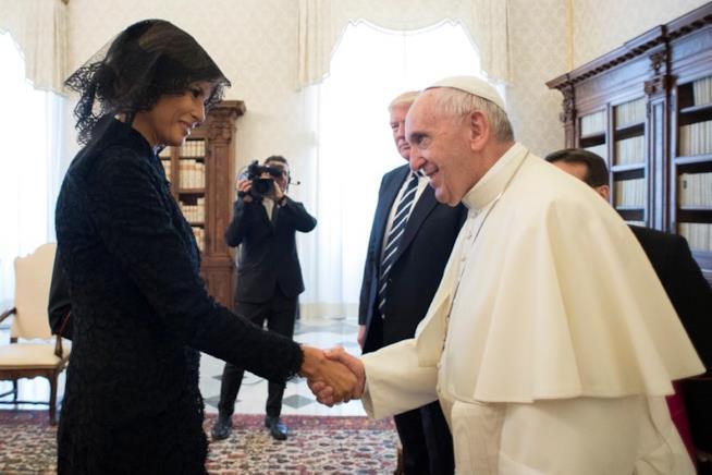 Melania e Papa Francesco