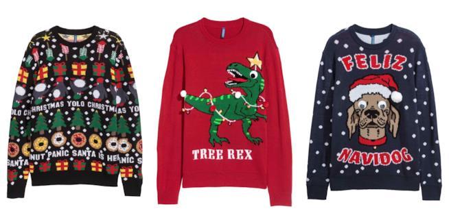 Collage di maglioni a tema natalizio