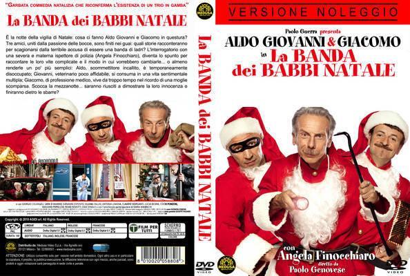 La copertina del film di Aldo Giovanni e Giacomo La banda dei Babbi Natale