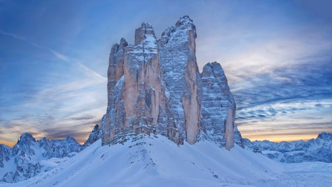 Sciare alle Tre Cime di Lavaredo tra le splendide Dolomiti di Sesto
