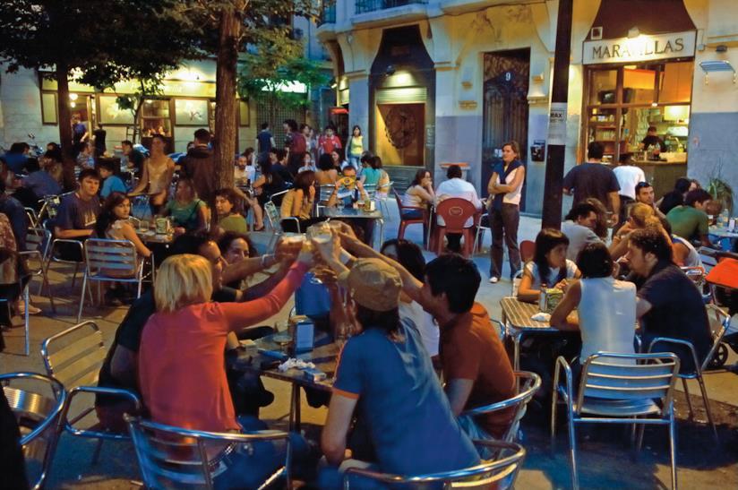 Un'allegre serata a Madrid