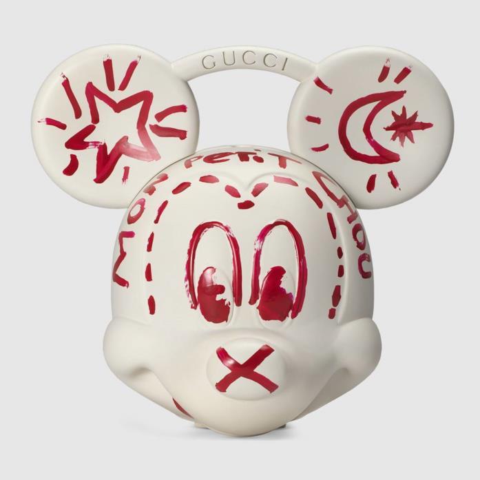 La Borsa Mickey Gucci bianca e rossa